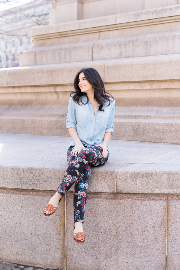 Pretty printed jeans