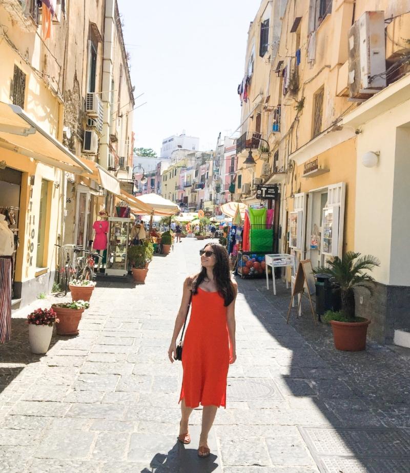 walking around Procida Italy