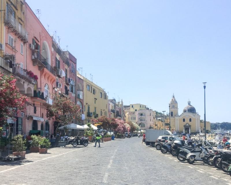 The harbor at Procida Italy