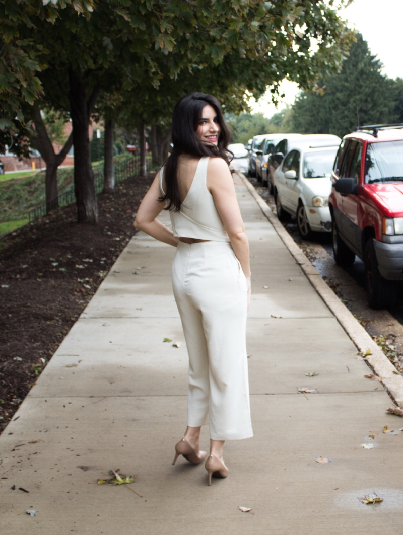 White jumpsuit back