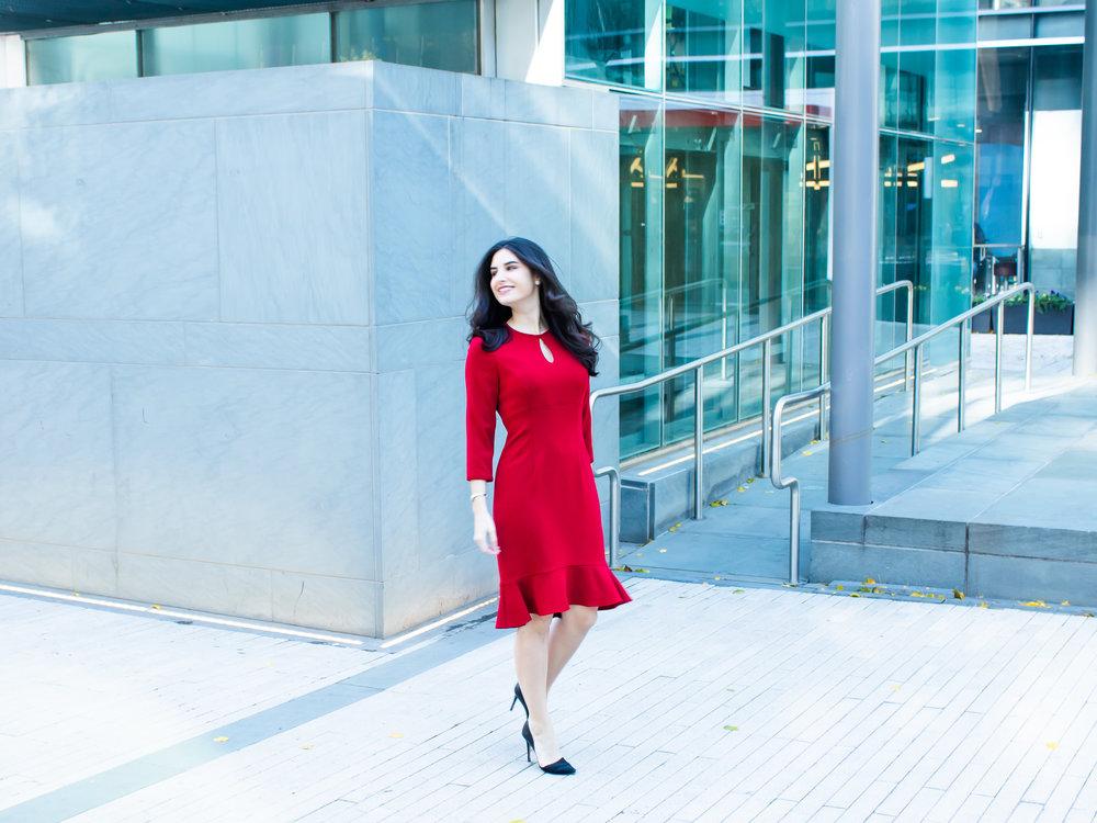 Nora Gardner Red Giselle Dress