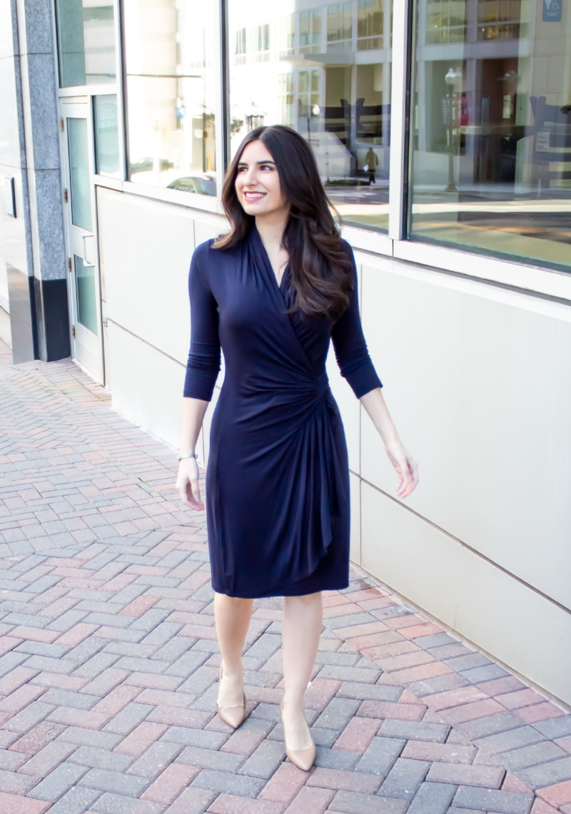 Navy Karen Kane Dress