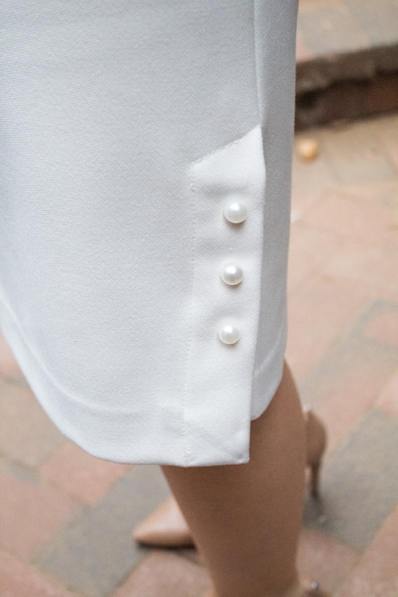 white pearl skirt