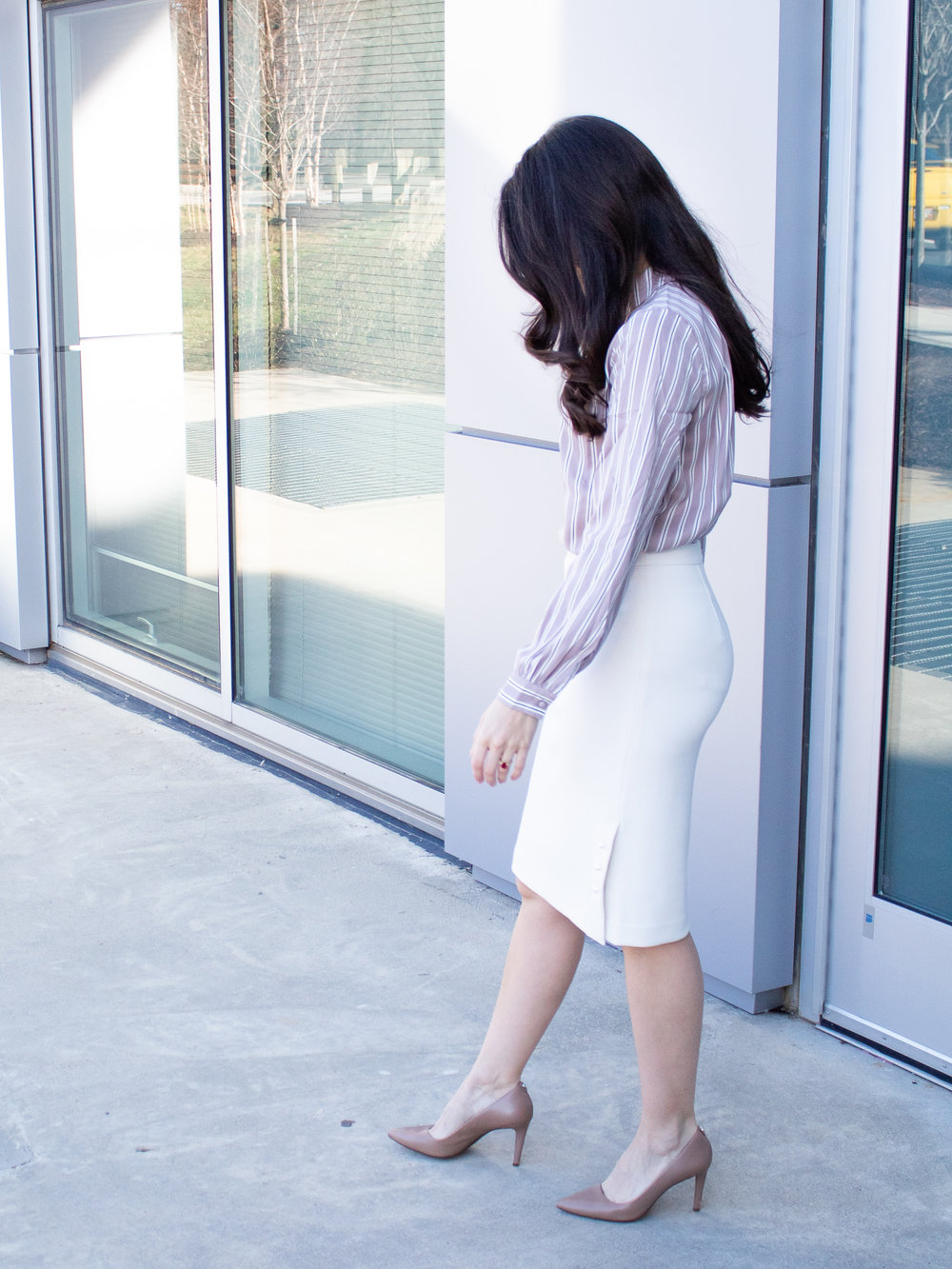 Ann Taylor Blouse and Skirt