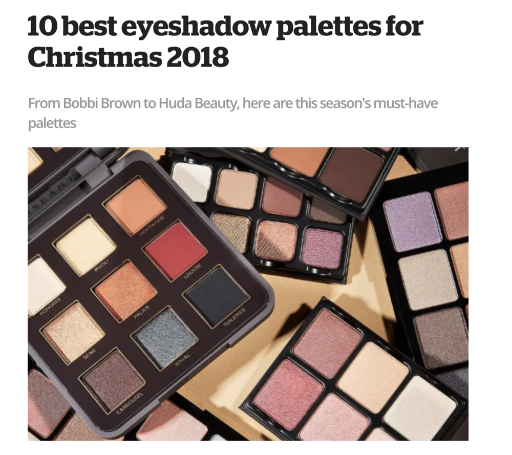 10 Best Eyeshadow Palettes for Christmas 2018