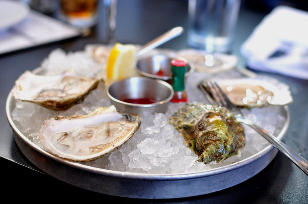 Half shell at The Oysterman.