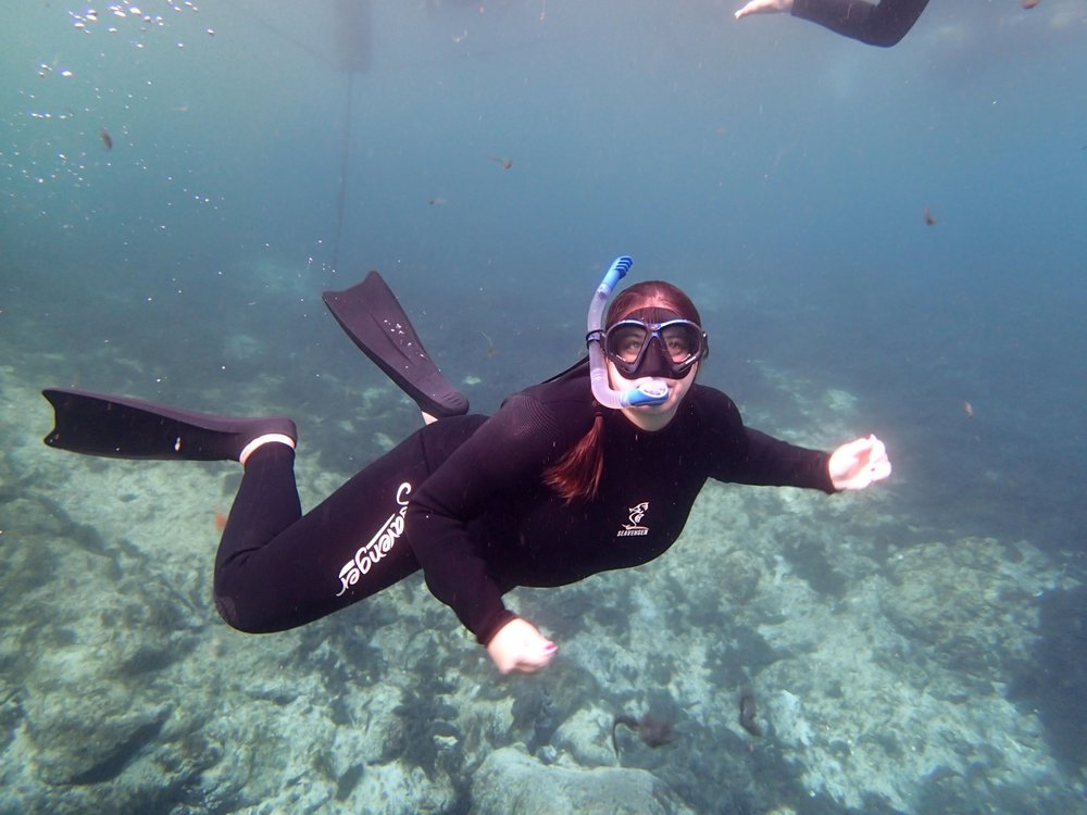She's born for the sea. Nicolette in Costa Rica with her marine biology class in '08. Source: Nicolette Mariano