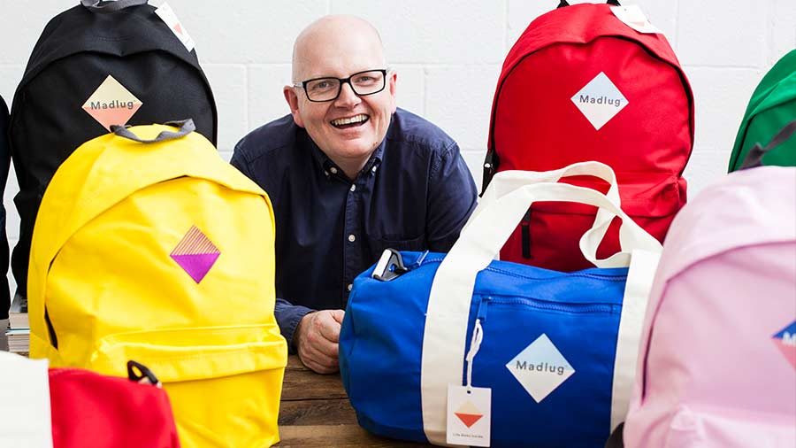 Photo Of David Linton, founder of Madlug:  Make A Difference Luggage.