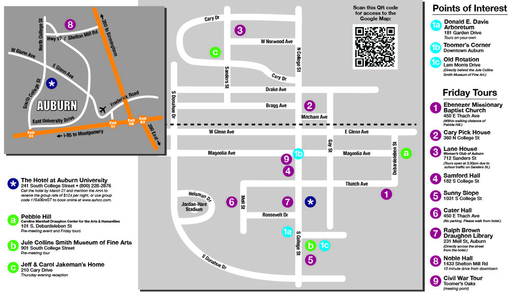 AHA Spring Meeting Map