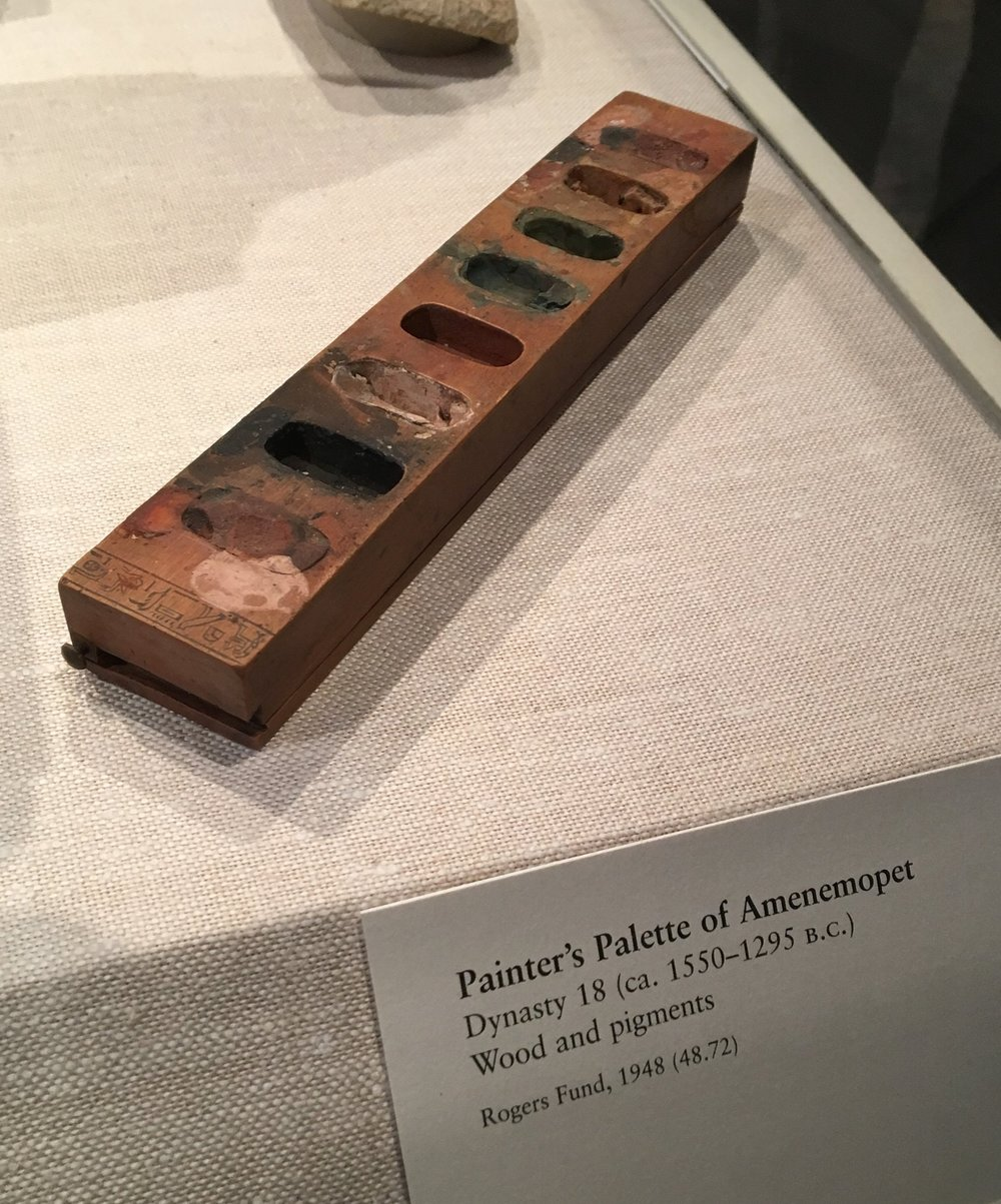 BC paint palette form Egypt