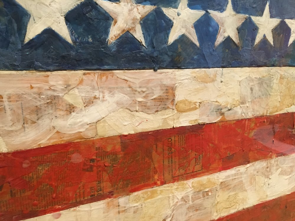 CLOSEUP of a piece by Jasper Johns