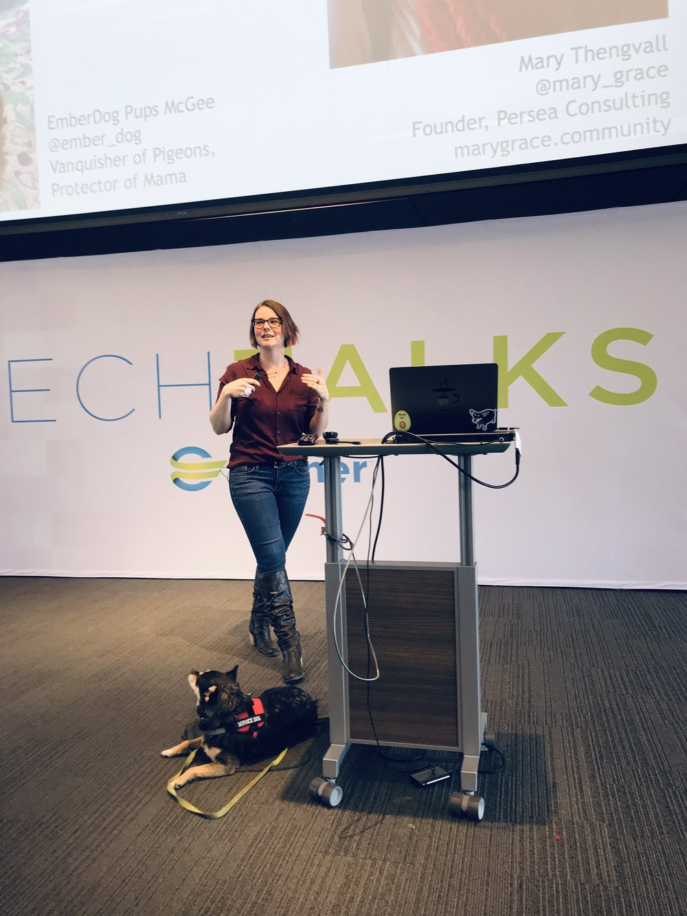 Speaking - From podcasts to panels and speaking at conferences, I love to speak about building, growing, and advocating for technical communities. I also have the privilege of speaking on behalf of MHPrompt, an organization that starts conversations about mental health in tech.Interested in having me speak at your event? Feel free to reach out.Want to see videos or slides from past presentations? Check out my Notist profile.
