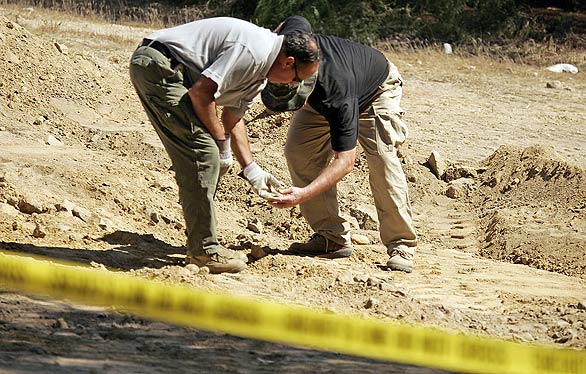 Authorities shown excavating potential dumping grounds of Edwards. Still trying to piece together his movements with his crimes.