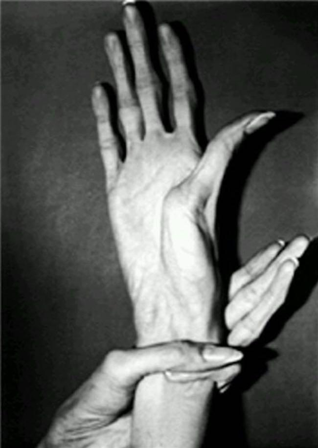 Alleged image of the claw like hands of the Otaku Killer.