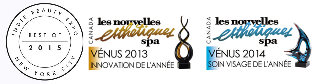 PHYTO5 AWARD WINNING: INNOVATION OF THE YEAR 2013 and FACE CARE SYSTEM OF THE YEAR 2014, LES NOUVELLES ESTHETIQUES SPA MAGAZINE, CANADA; BEST OF 2015 INDIE BEAUTY EXPO, NEW YORK CITY;  PRIZE FOR INNOVATION-1998 PARIS BEAUTY AND SPA CONFERENCE AND TRADE SHOW