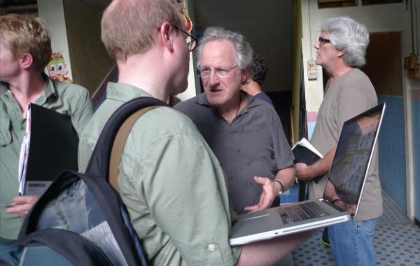 Me and Michael Mann on set in Kuala Lumpur discussing terms