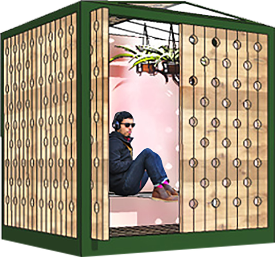 TERRA Home as a pop-up space to be installed an existing business or public space.