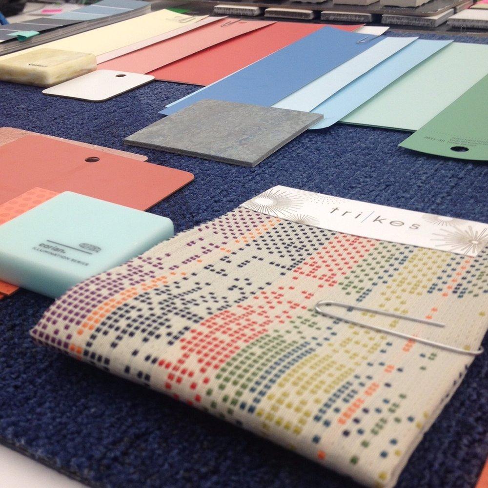 Design development finish palette.