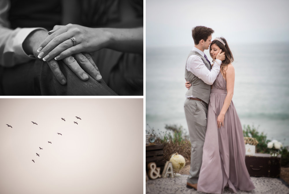 andrew and alessia beach engagement session, malibu