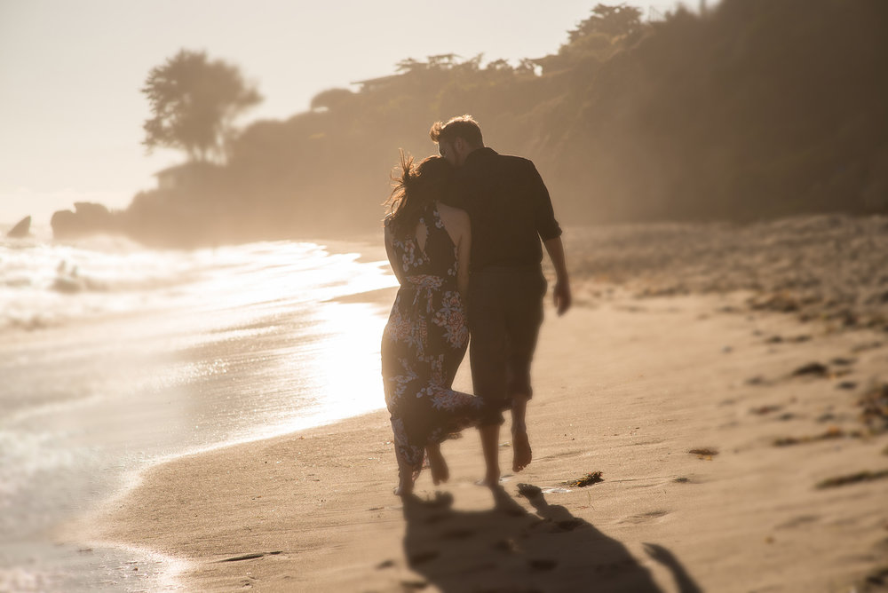 Jenna and Greg Engagement, Malibu, Los Angeles, LGEmerick