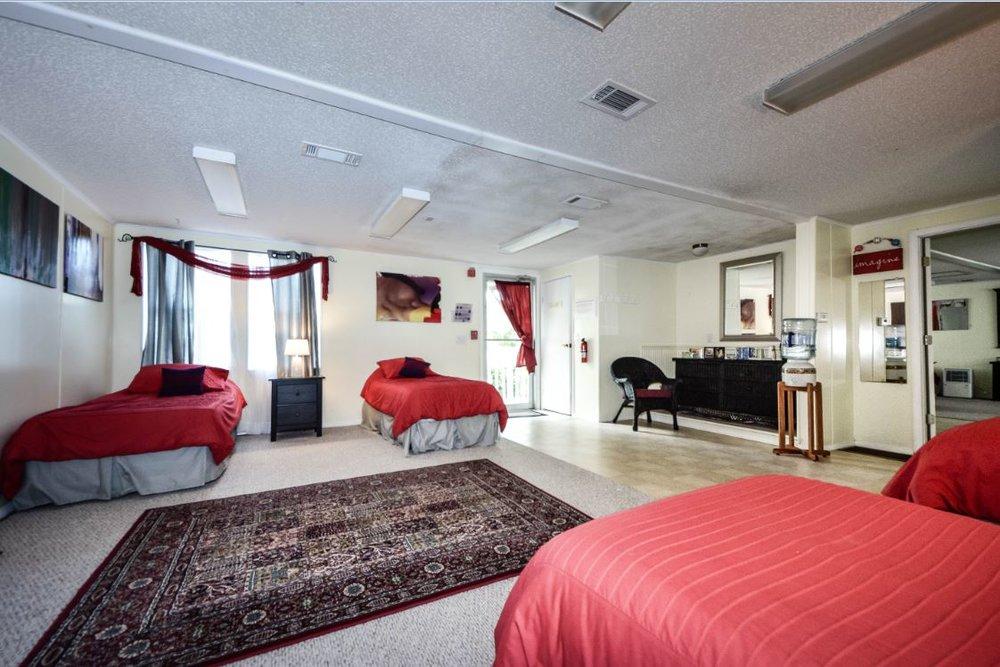 Dormitory. Five beds, shared bath