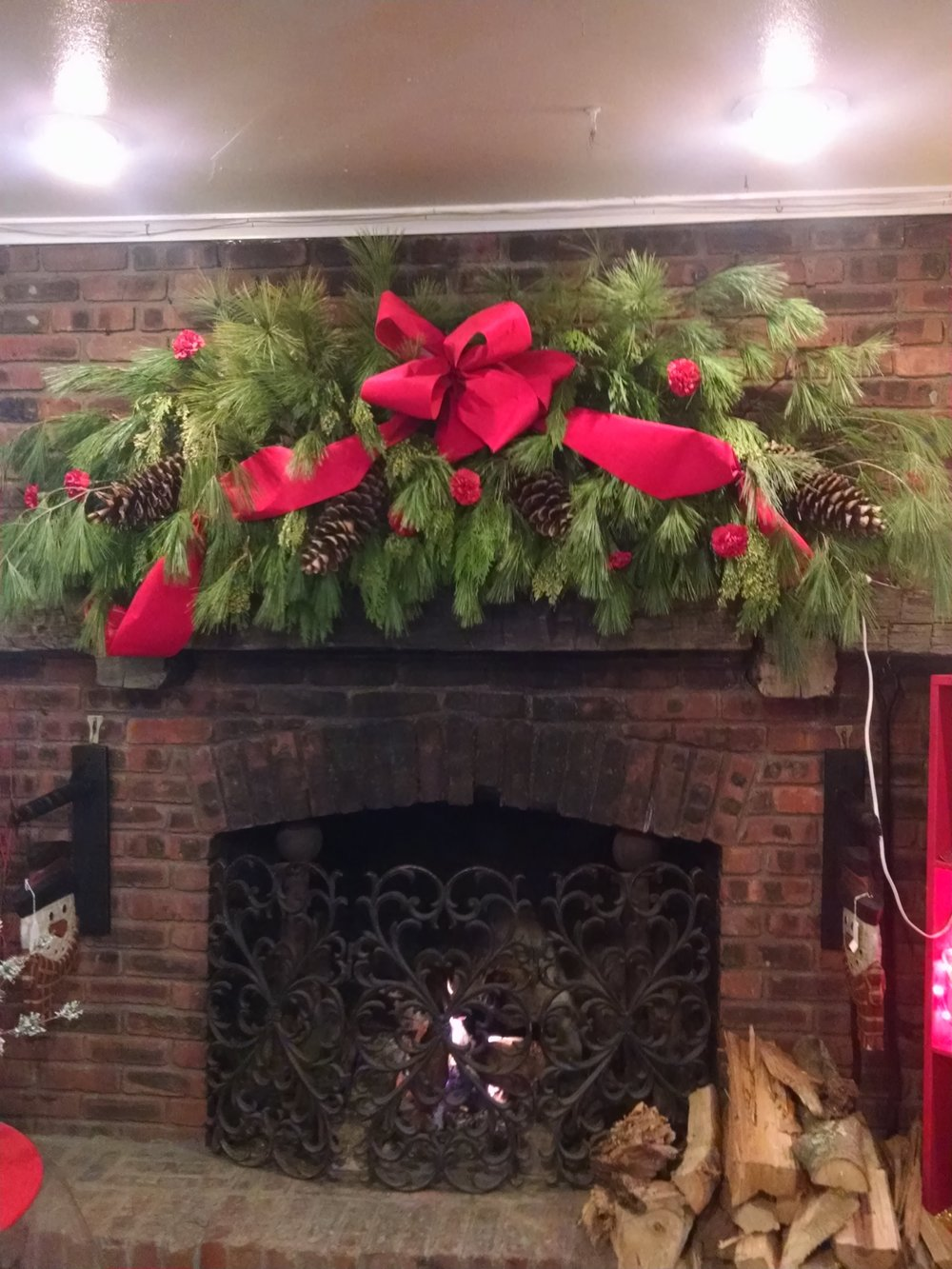 Fireplace Christmas Garland