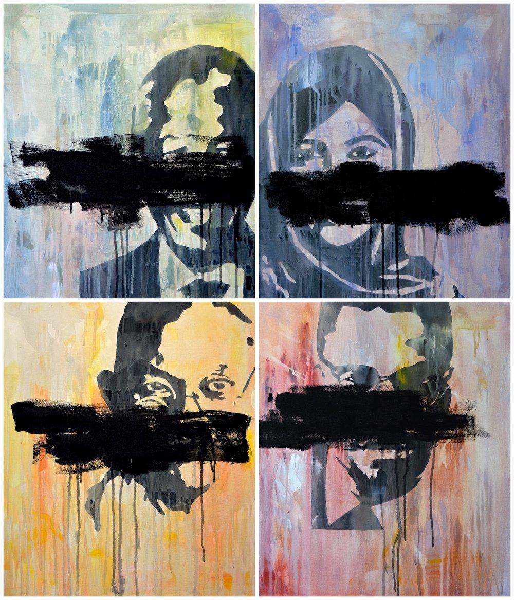 """Resistance"", Acrylic on canvas, 50x60cm, 2017"