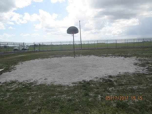 The original basketball court, before the new court was built