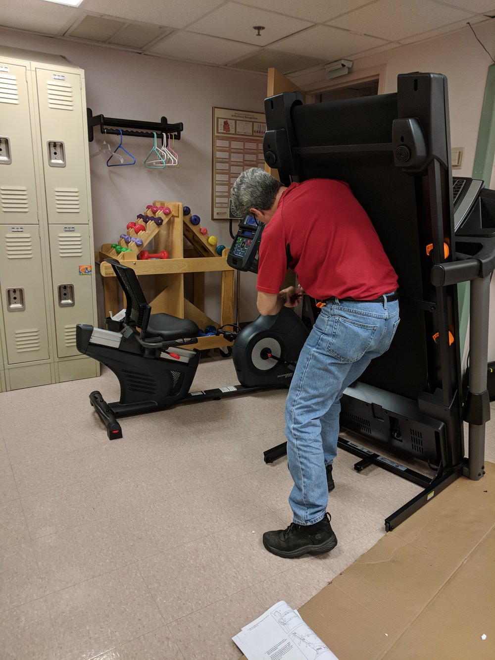 Constructing the treadmill