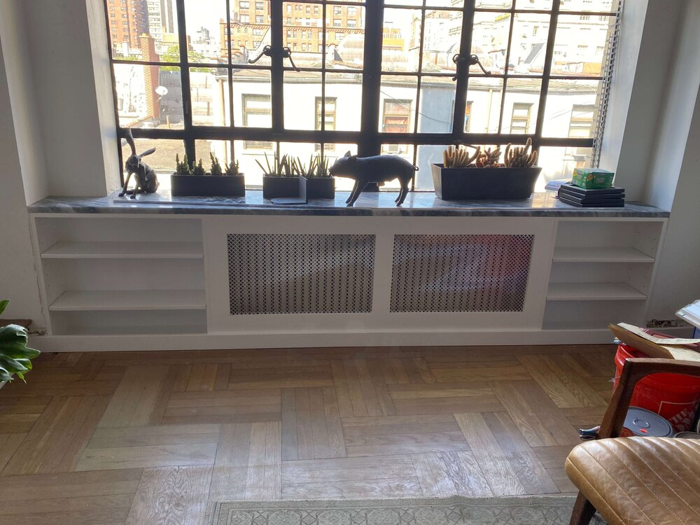 Upper West Side Custom Radiator Cover And Shelving Paintworks Decorating
