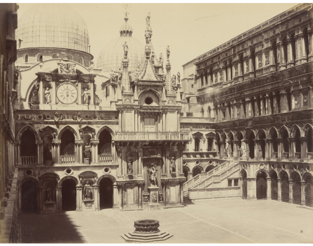 Palazzo Ducale Courtyard Then