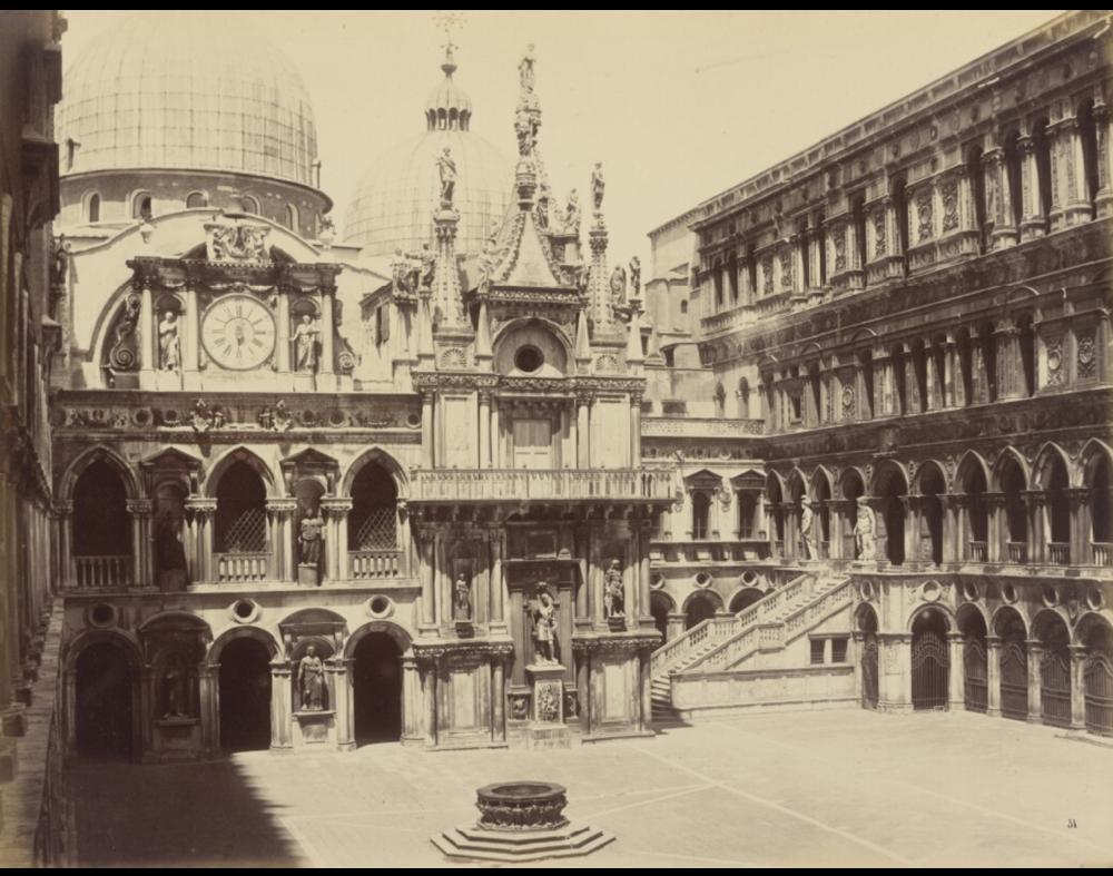 Palazzo Ducale Courtyard Then