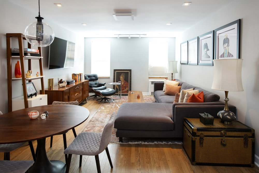 Mod And Hip Living Space By Dickerman Design, Brooklyn And NYC Interior  Design Firm