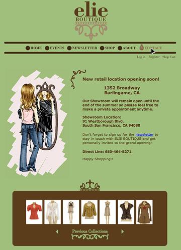 Website Design for elie Boutique