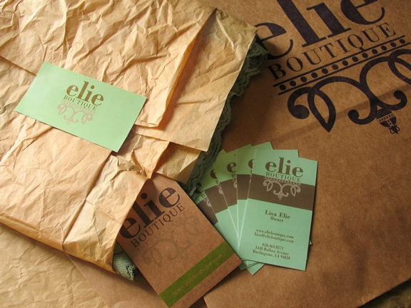 Print collateral and Brand Identity for elie Boutique