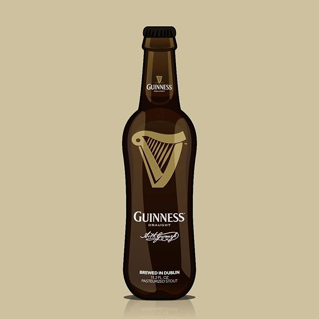 Day 77 of 365: Here's a little illustration I did of everyone's favorite Irish stout for Saint Patrick's Day this year. . Rich and creamy. Distinctively Black. Velvety in its finish. Sometimes you just need a Guinness Draught to quench your thirst. 🍻🍀 . . . #stpatricksday2018 #stpatricksday #guinness #guinnessdraught #irishstout #beer #sláinte #cheers #illustrator #vector #vectorart #365days #graphicdesign #graphicdesignlife #portlandartists #pdxdesign #pdxcreatives