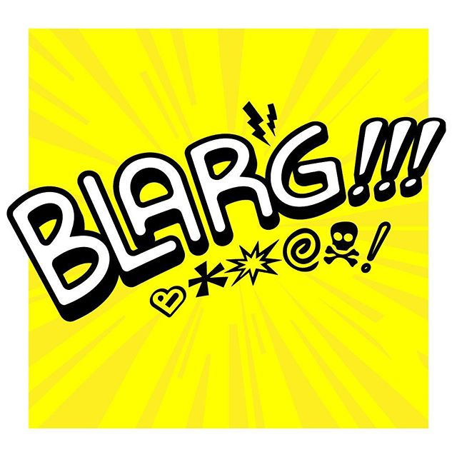 Day 78 of 365: Blarg!!! is the combined sound of all the bad words you want to say to the Arabian prince that is calling you for the 15th time today about the cruise you've won. 🚢 ☎️ 👑 . . . #blarg #customtype #censored #princeali #robocallsaretheworst #sfx #illustrator #vector #vectorart #type #typography #typenerd #365days #graphicdesign #graphicdesignlife #portlandartists #pdxdesign #pdxcreatives