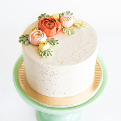 Raspberry Rose Mothers Day Cake