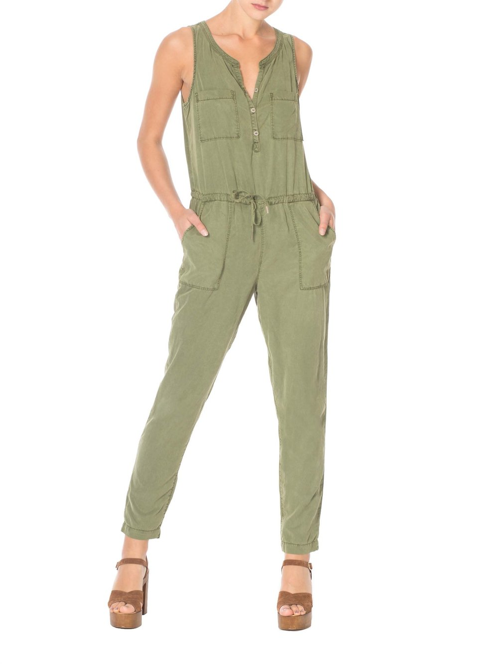 Green Safari Jumpsuit