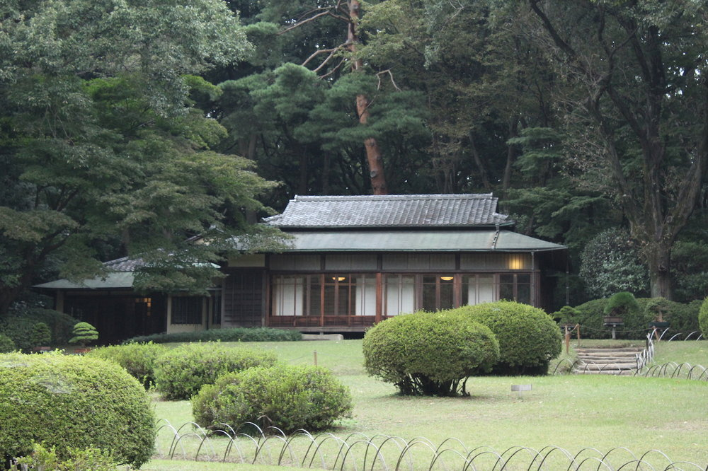 There's a beautiful  garden  inside the park that the Emperor dedicated to his wife.  This was her tea house.  Have goals for your relationship.