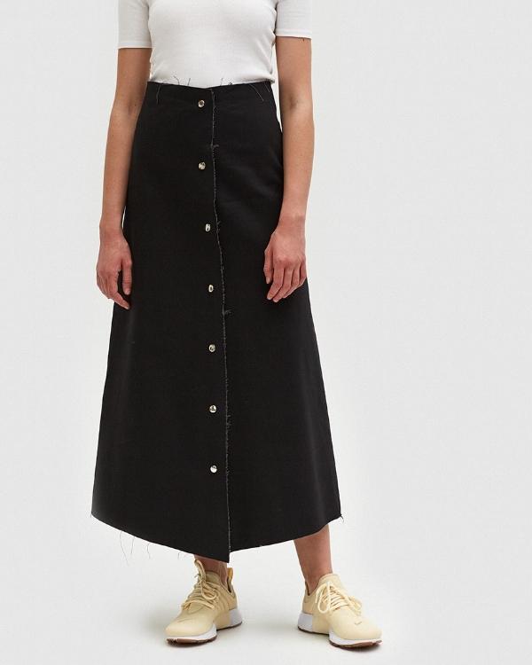 Ashley Rowe snap skirt