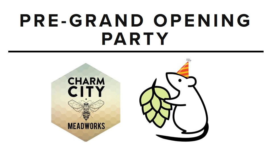 Thurs, Nov 16 - Charm City Meadworks invites Baltimore Brew Club members and friends for an early opening of the New Mt. Vernon location, complete with tours and buy1get1 flights! RSVP here.Make sure to bring your BEER PASSPORT.  If you don't have one, grab one online and select 'pick up at Charm City Meadworks'.