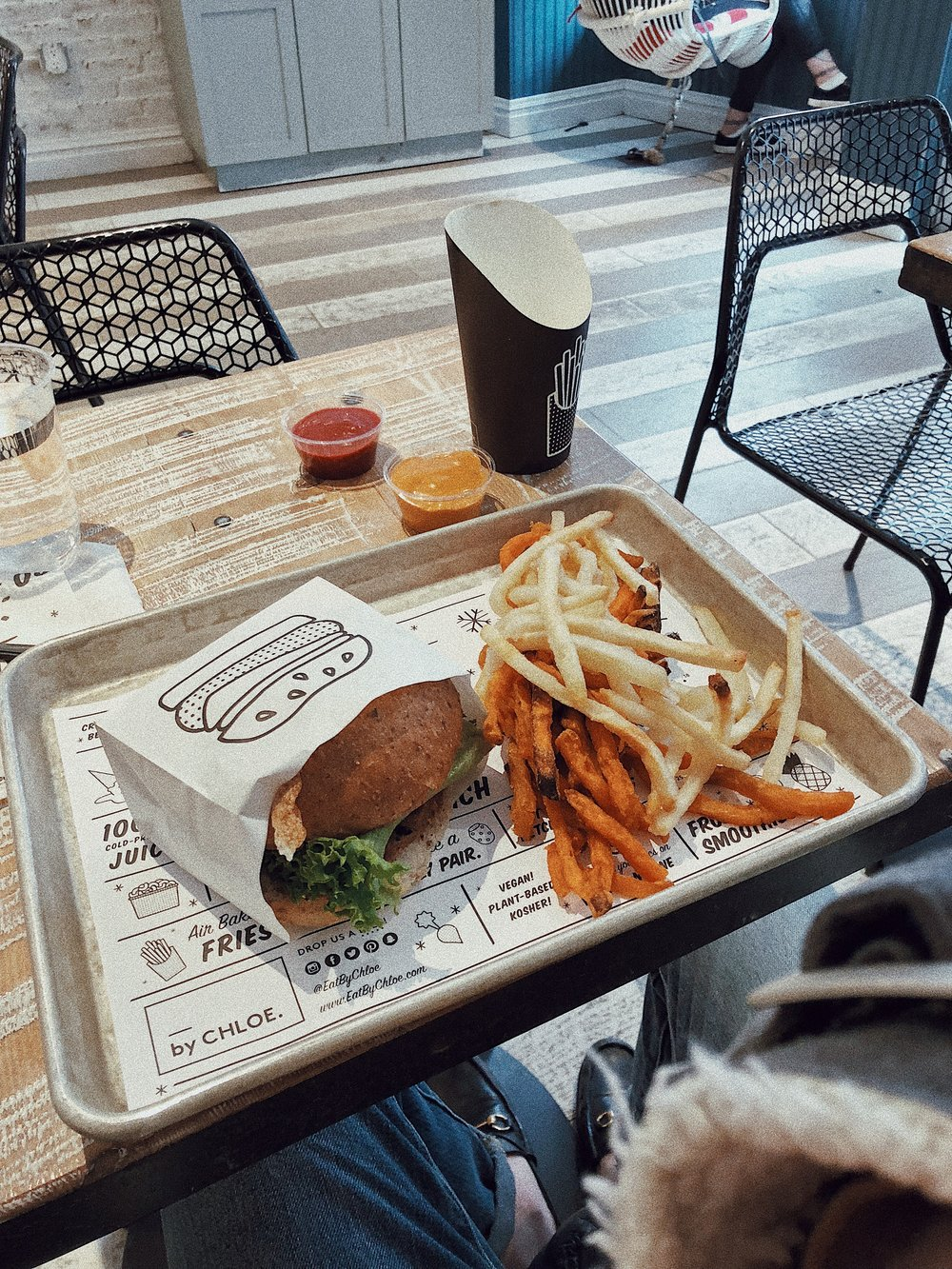 By Chloe is one of my favorite places to stop and get a bite in Soho. It fills me up like no other food and it's fairly healthy. The fries are air fried and the food is vegan. I 10/10 recommend this spot if you're looking to try something new.