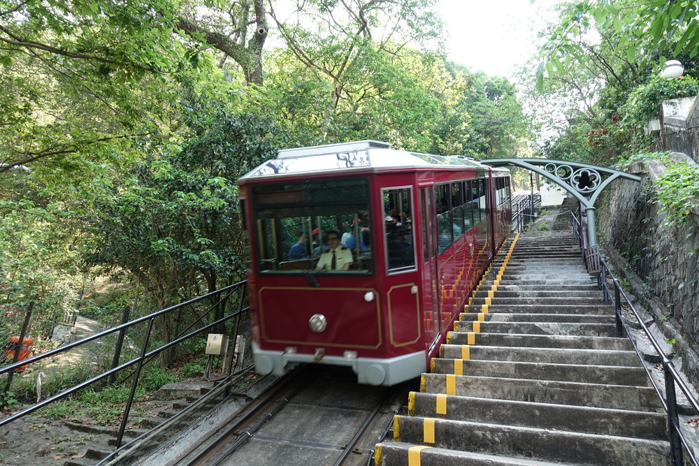 The iconic Peak Tram
