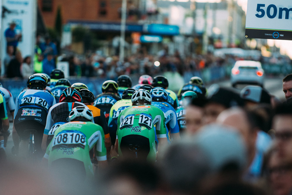 All together for the bunch sprint