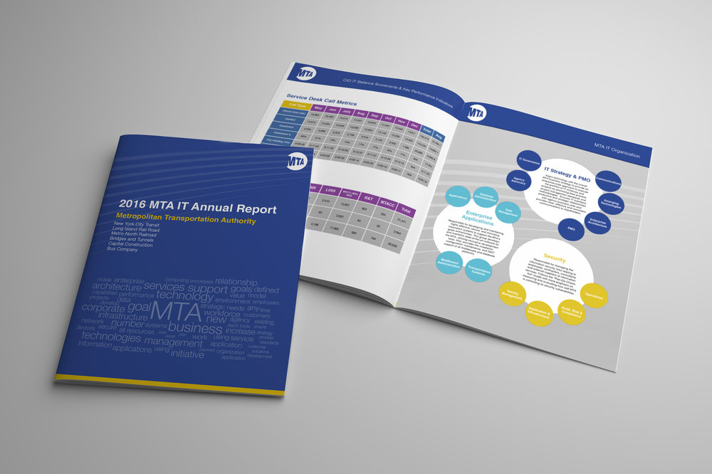 Part of my job to rebrand the MTA's IT Department started with their annual report.