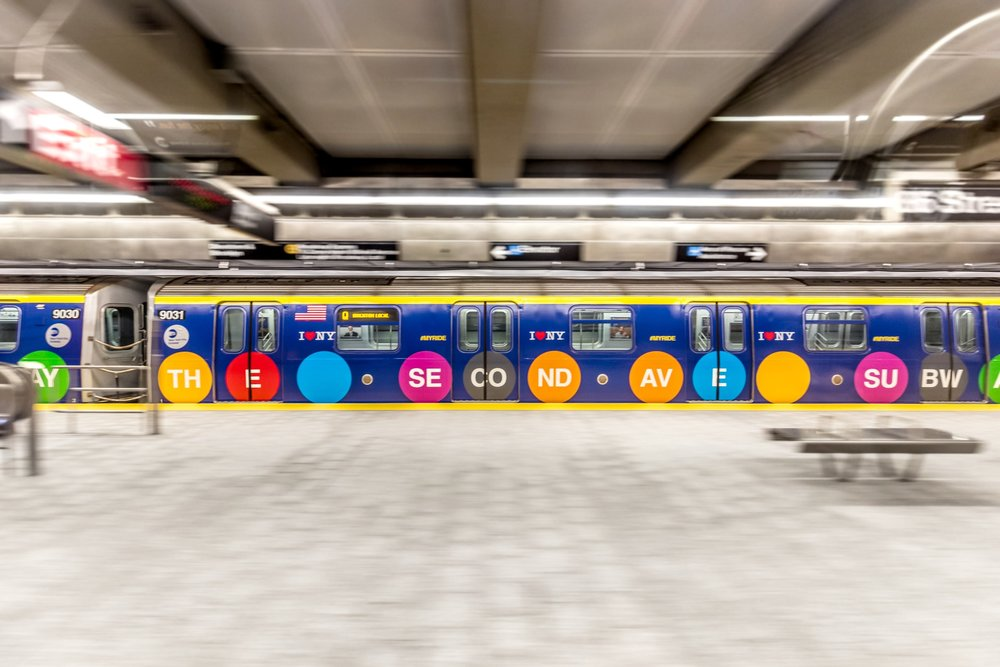 Second Avenue Subway Opening. Train Wrap Design: Lizzy Margiotta. Photo Credit: theverge.com
