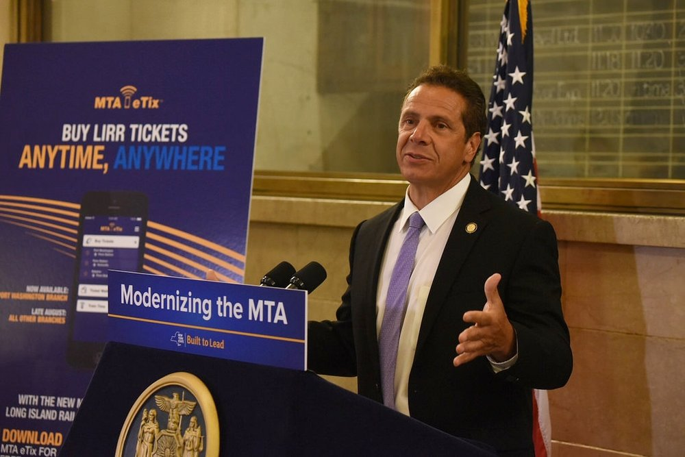 Governor Andrew M. Cuomo announces the new app and his plans to modernize NY.