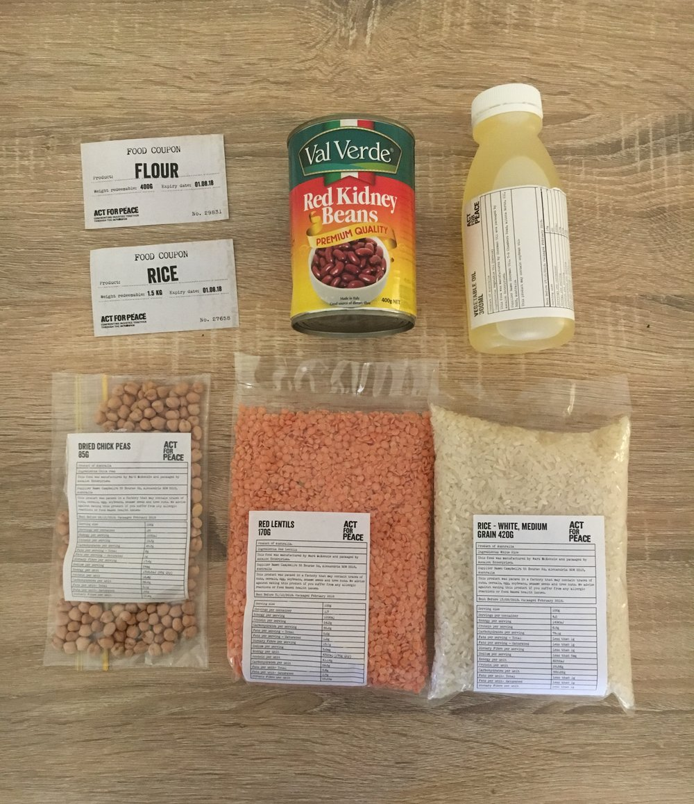 The contents of my ration pack - NOT MUCH!