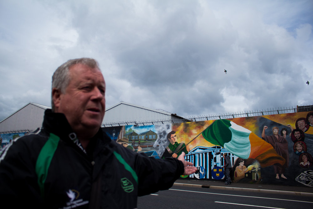 Imprisoned for 12 years for his activism with the IRA during The Troubles, today Robert (pictured) works as a guide for the mural tours around Belfast.